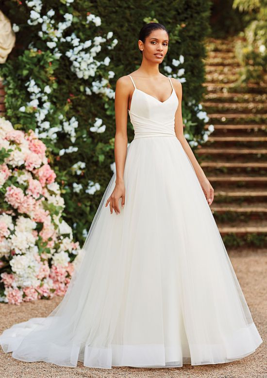 ivory rouched gown