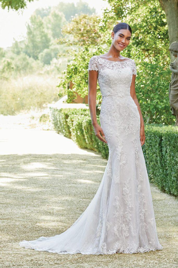 Lace Cap Sleeve wedding dress