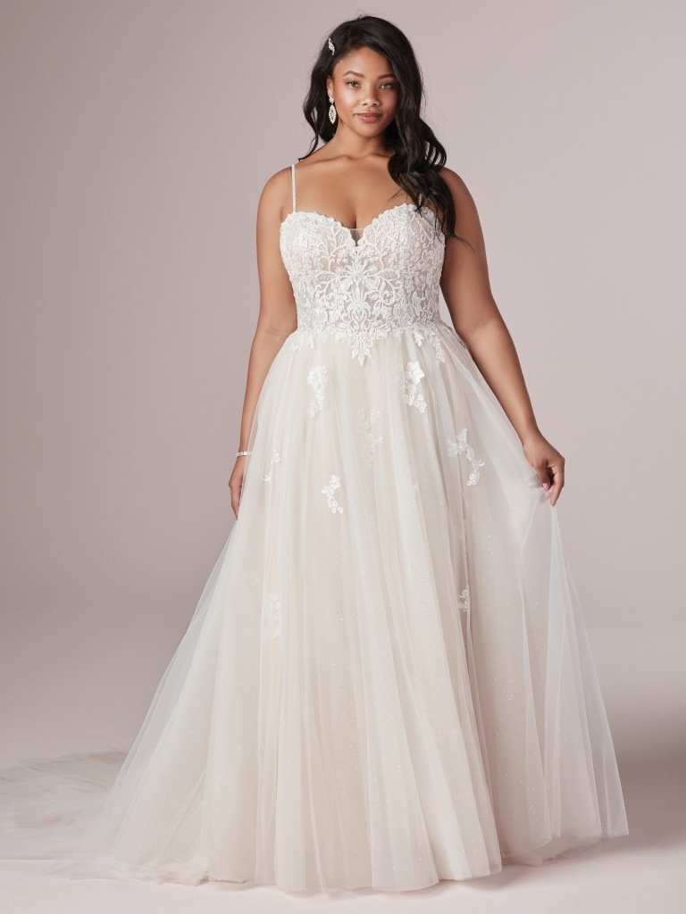 Sparkle tulle lace plus size