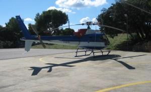 Hélicoptère RTE libre de droits