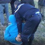 Arrestation d'un jeune manifestant à Chorges