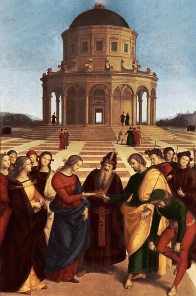 Rafael Sanzio de Urbino, Casamento da Virgem Maria, 1504