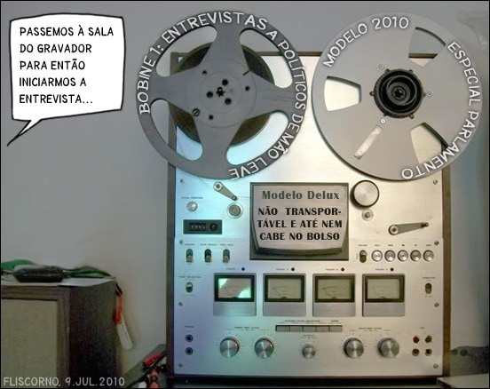 Novo modelo de gravador para jornalistas