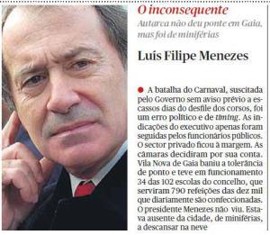 Luís Filipe Menezes em férias