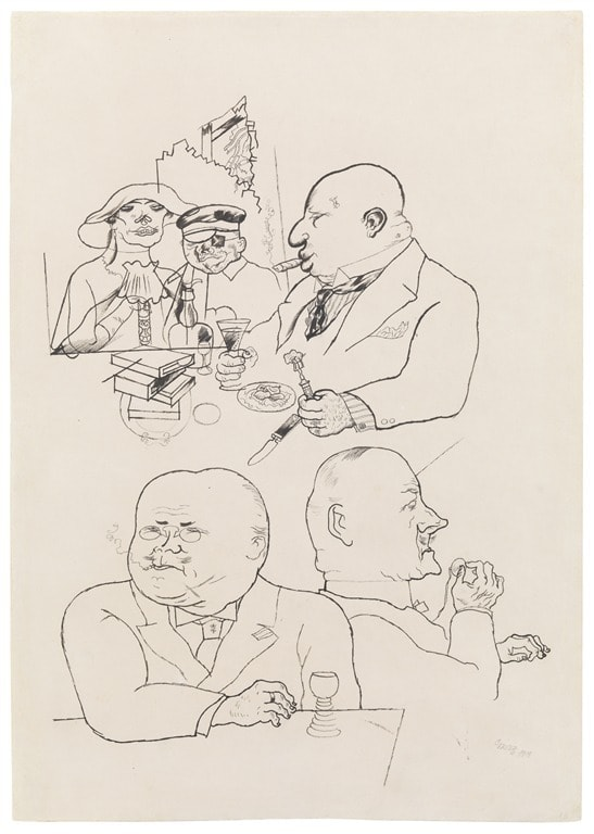 swamp-flowers-of-capitalism-1919-by-george-grosz