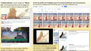 """""""Cristina Morais"""", perfil amigo de """"Maria Luz"""". Um Facebook pleno de propaganda anti-PS. Perfil criado em Março de 2013."""
