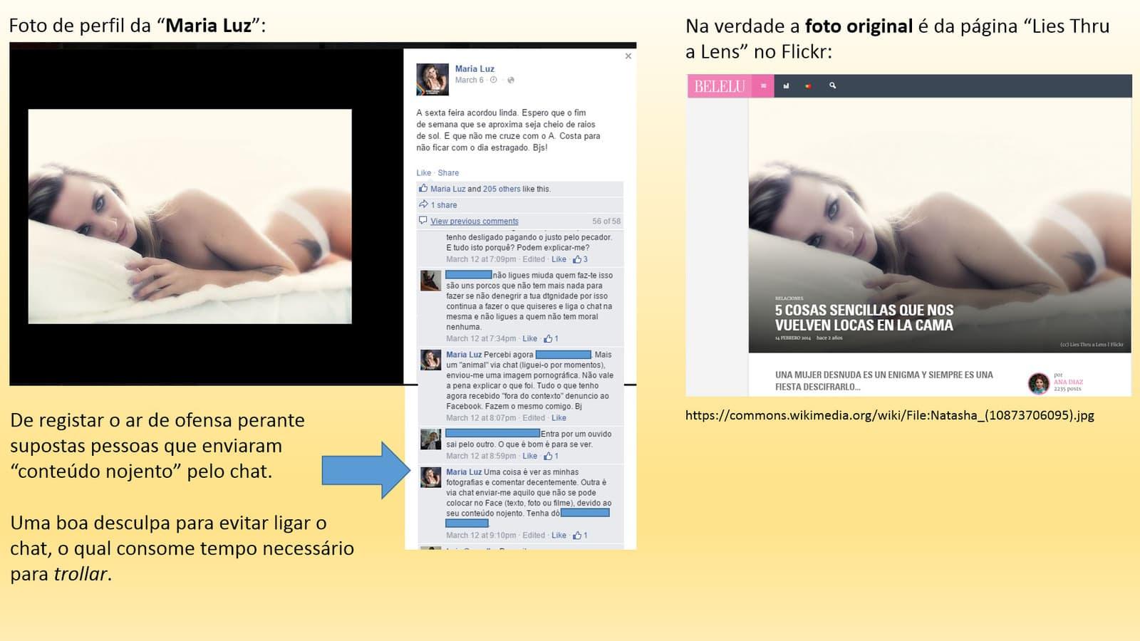 """Outra foto de perfil da """"Maria Luz"""""""