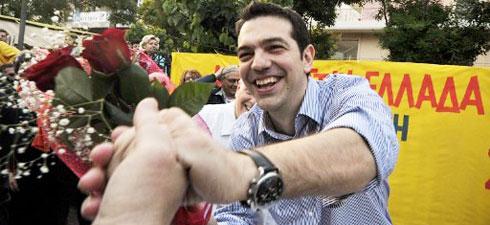 O pesadelo de Ulrich: Tsipras a comemorar a vitória.