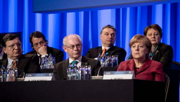 Orbán Viktor; VAN ROMPUY, Herman; MERKEL, Angela; DURAO BARROSO, José Manuel