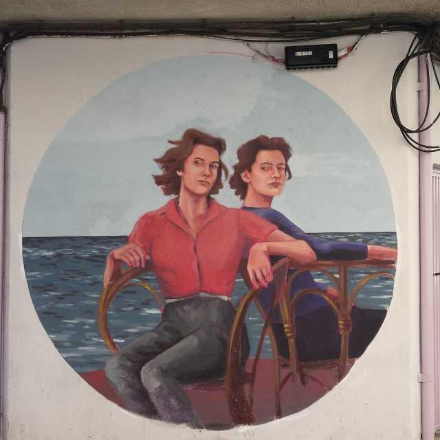 Street art, Barrio del Oeste, Salamanca, artista desconhecido, foto minha.