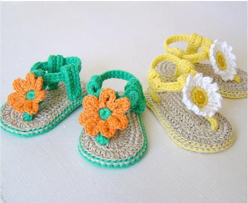 crochet-algodo-do-beb-sandlias-sapatos-vero-sandlias-do-beb-de-croch-com-flores-fcil-sapatos