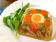 Gelatina de pollo con verduras