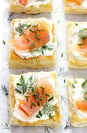 masa de hojaldre con salmon y eneldo