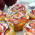 rosas de manzanas y hojaldre
