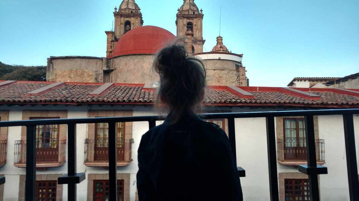 Young girl overlooking Mexico