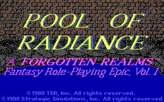 Jogos - Pool of Radiance (tela inicial)
