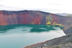 Cratère rouge, par Malika