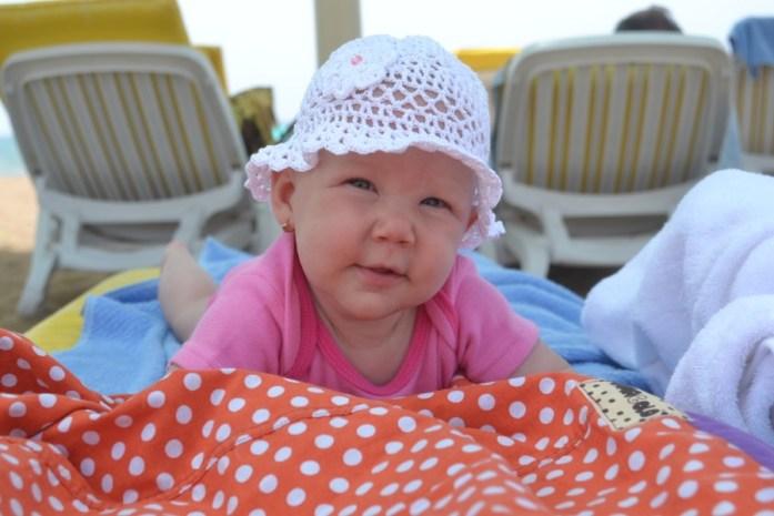Prima vacanta la mare cu bebe Mara de 4 luni si jumatate