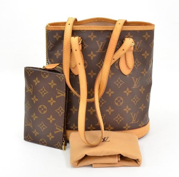 Louis Vuitton Monogram Canvas Bucket PM Petit Shoulder Bag