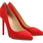 Charlotte Olympia red Monroe suede pumps