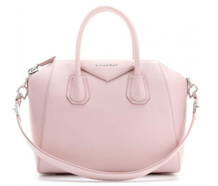 Givenchy Antigona light pink small leather tote bag