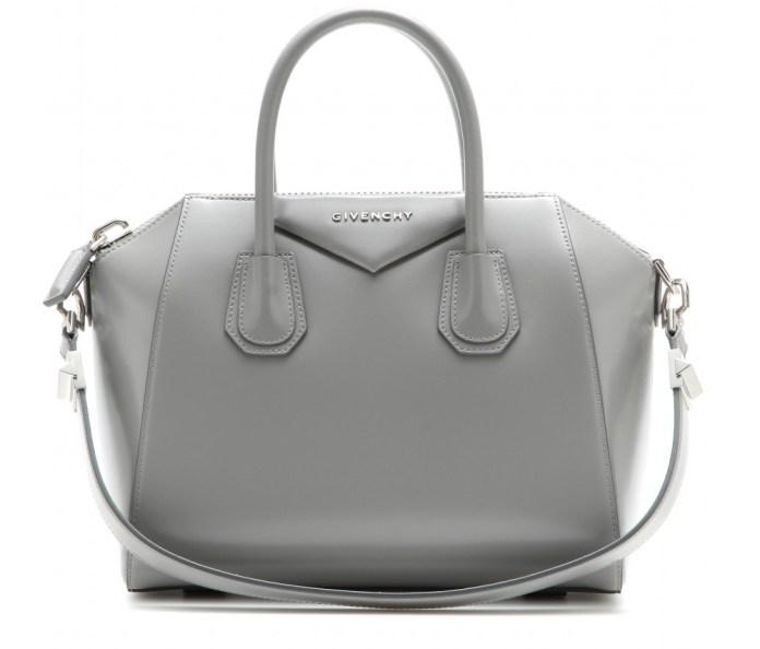 Givenchy Antigona pearl grey leather bag