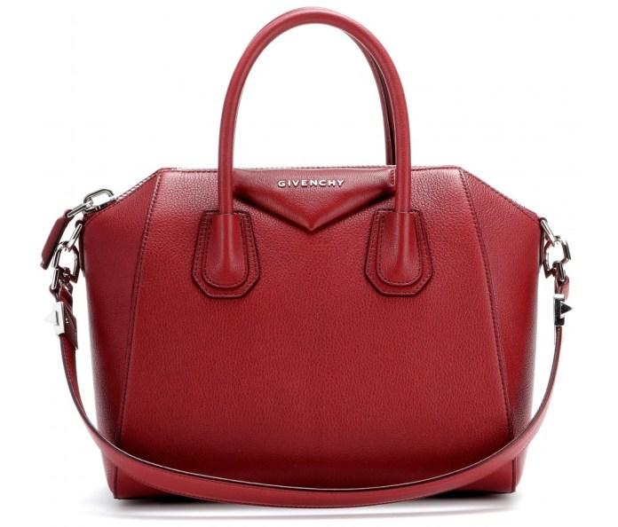 wine red Givenchy Antigona leather handbag