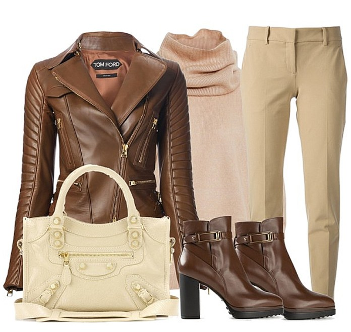 Balenciaga Giant 12 City Leather Tote with outfit idea