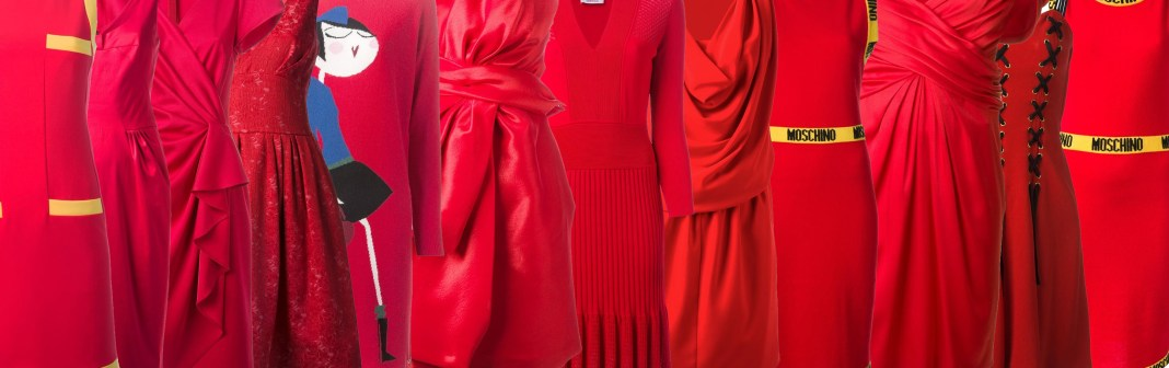 12 red moschino dresses