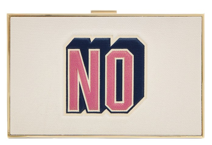ANYA HINDMARCH Imperial Yes-No Leather Box Clutch