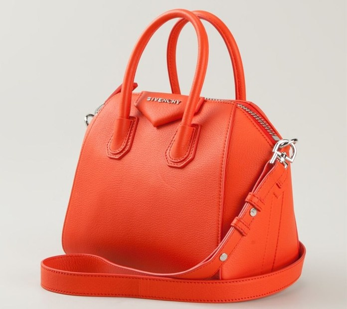 Orange goatskin mini 'Antigona' cross body from Givenchy