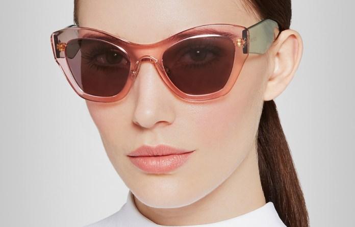 Miu Miu Two-tone cat eye acetate sunglasses