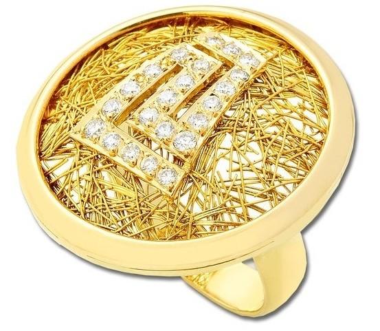 Anastazio Zeus Sun Maiander Gold Ring