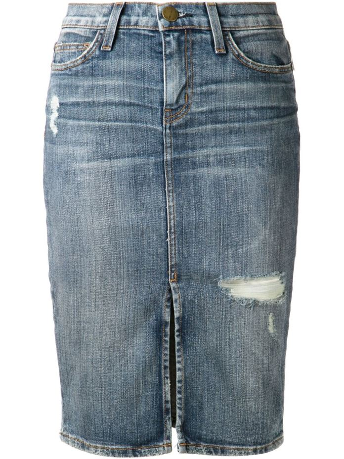Current/Elliott Denim Pencil Skirt