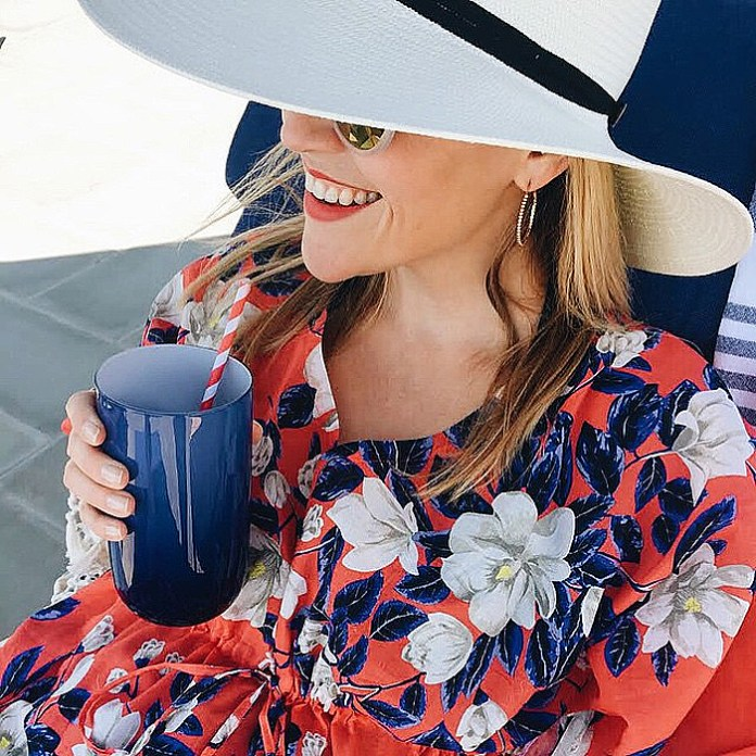 Reese Witherspoon makes us want a Draper James kiawah cover-up