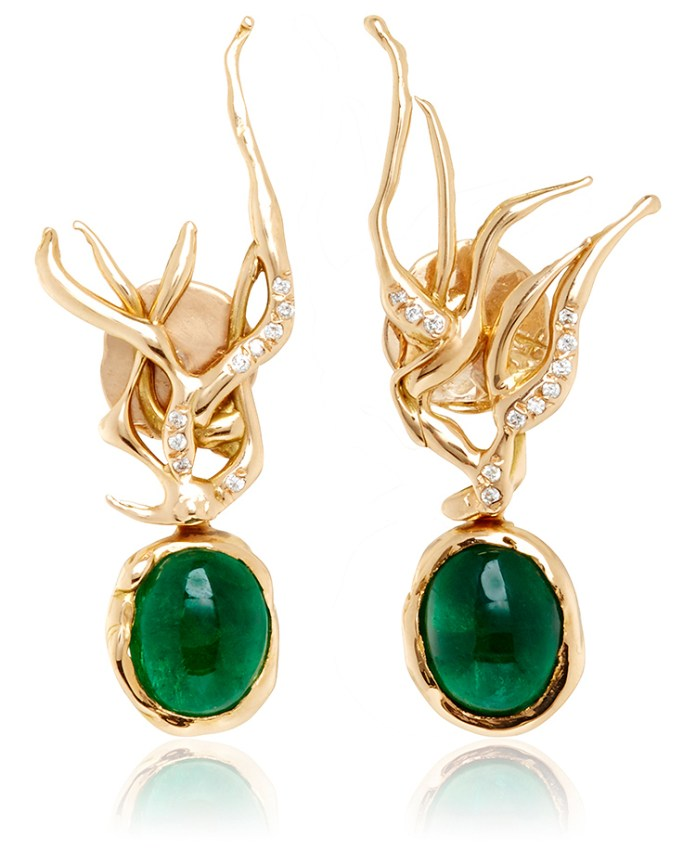 Lucifer Vir Honestus One of a Kind Anemoni Piccoli Earrings