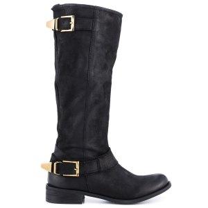 Steve Madden Suspekt Black Leather knee high boots