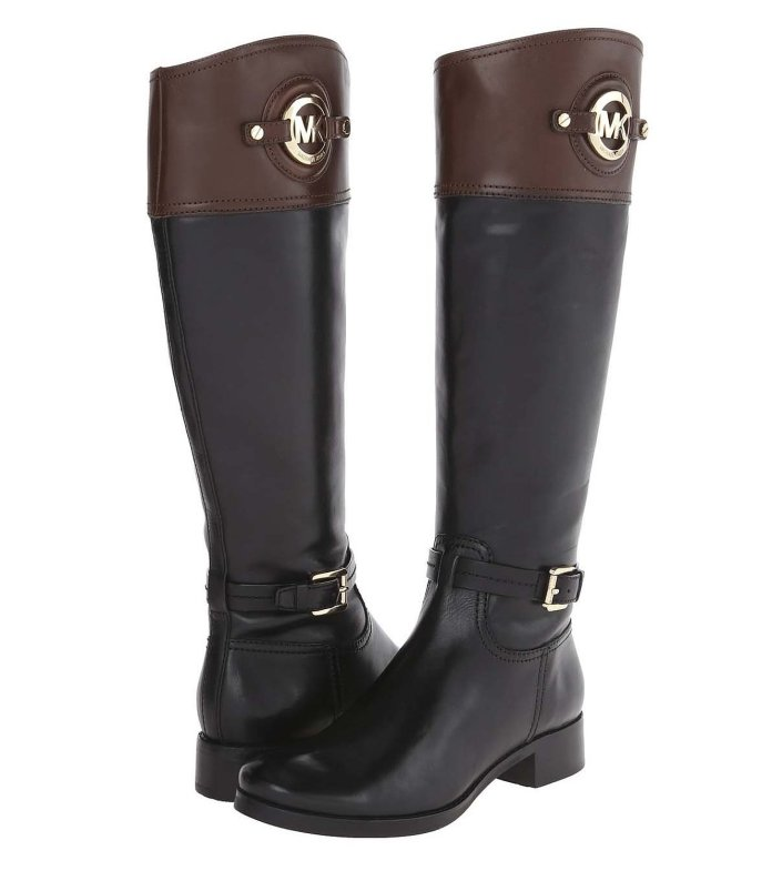 black mocha MICHAEL MICHAEL KORS Womens Stockard Riding Boot