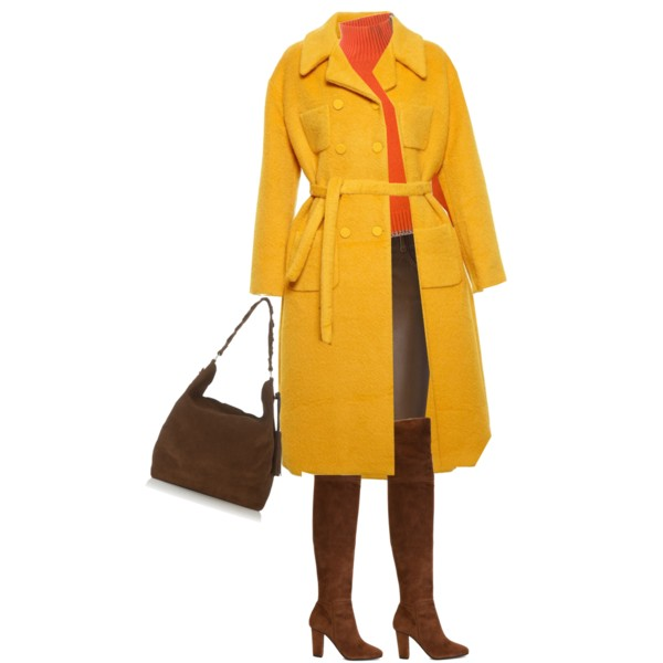 Brown orange yellow outfit idea 1
