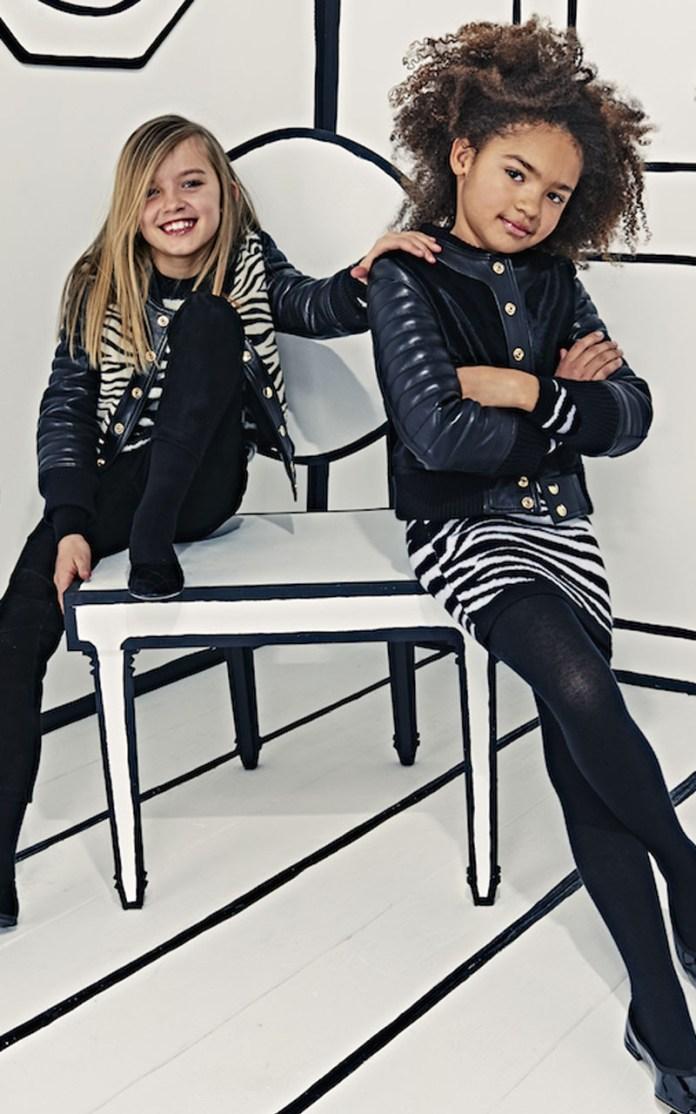 Balmain kids campaign ad photo girls modeling 2
