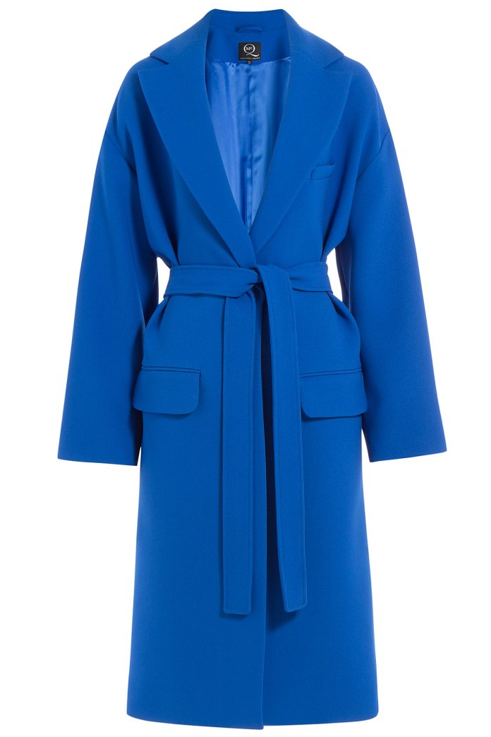 royal blue mcq Alexander McQueen belted coat - blue and purple