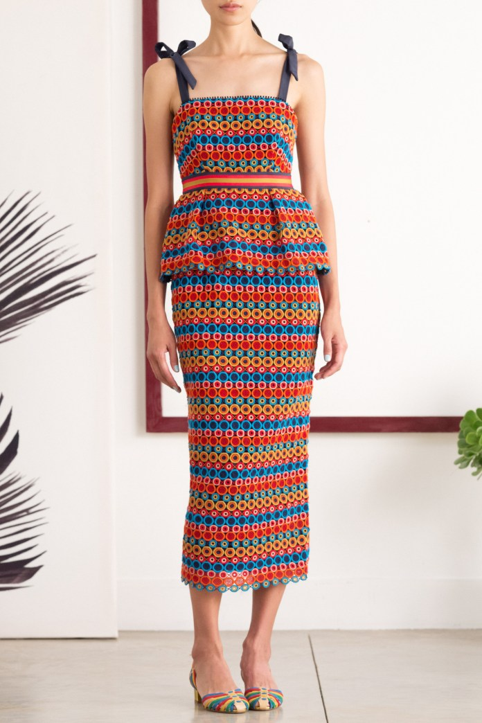 Saloni ROSALIE MULTI LACE DRESS color inspiration