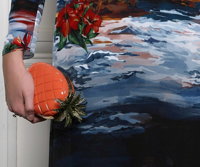 Valentino pineapple clutch mytheresa