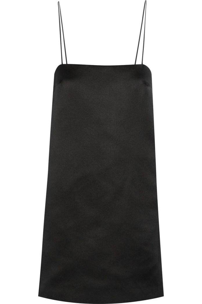 The Row Aneme silk-satin mini dress