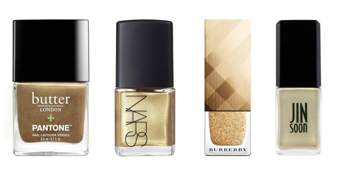 best nail color - gold nail polish
