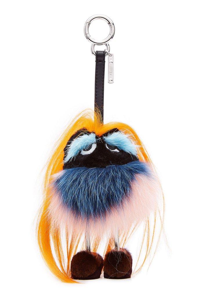 Fendi bag charm Bag Bugs Key Charm with Fur