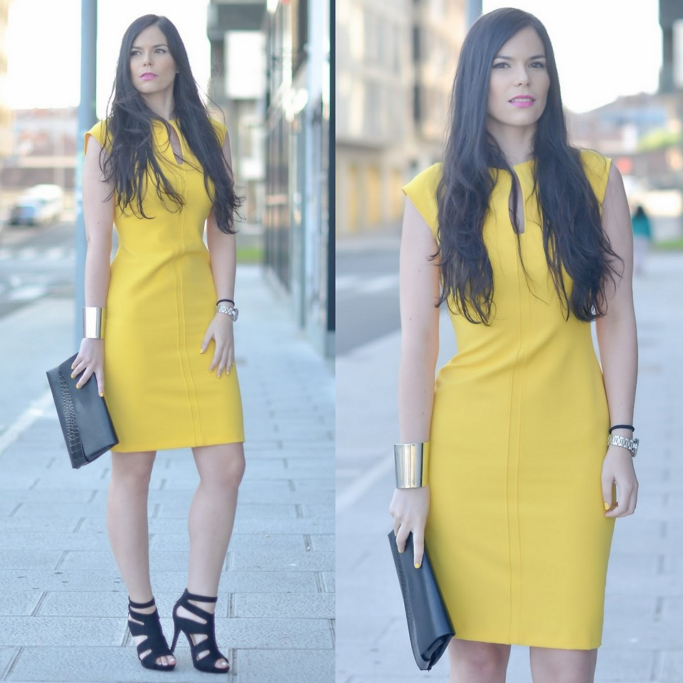 What color shoes to wear with a yellow