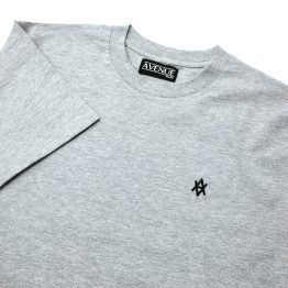 Avenue Heather/Black Grey Core Logo T-Shirt