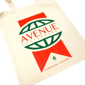 Worldwide Tote Bag Green Red Detail