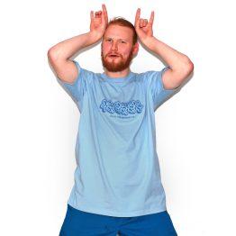 Avenue Kohlsen Amnesia T-Shirt Pale Blue Sam Mason